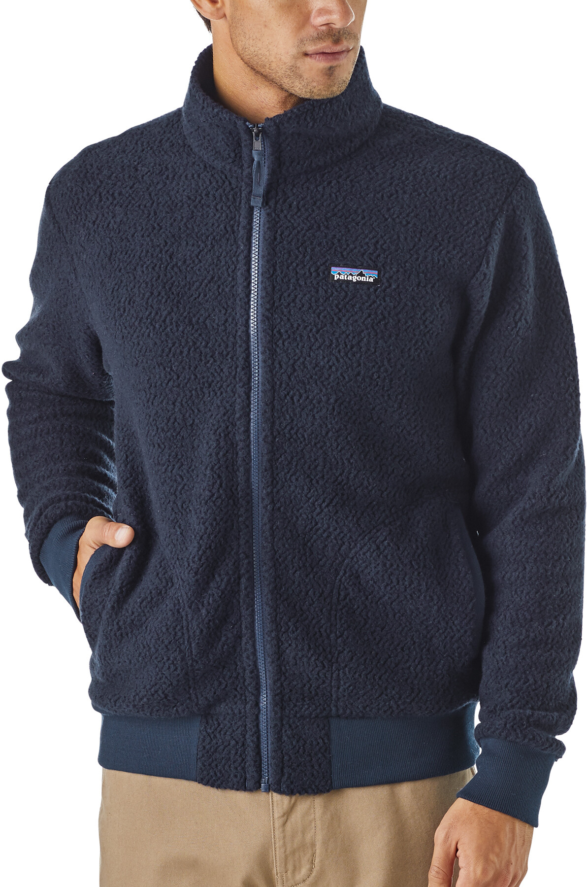 new products 0ad53 723e4 Patagonia Woolyester Fleece Jacket Men classic navy